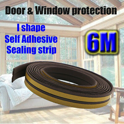 Self Adhesive Rubber Seal Weatherstripping for Door Window Frame Draught I Type