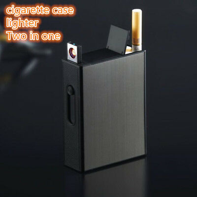 cigarette box case lighters USB Windproof flameless Electronic charging lighter