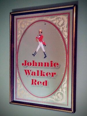 Vintage JOHNNY WALKER RED LABEL Bar Mirror