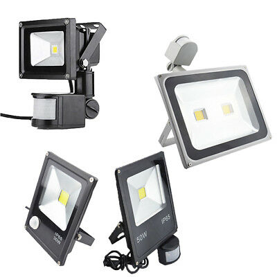 LED Flood Light PIR Motion Sensor 220V Spotlight Safelight Garden Security