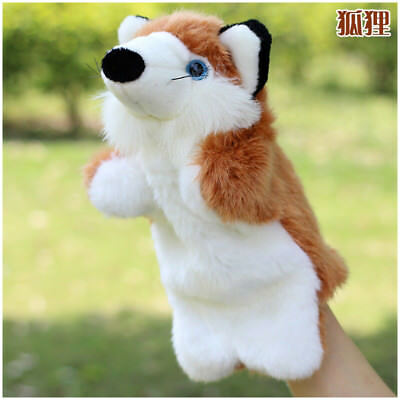 Fox Animal Hand Puppet Soft Plush Puppets Kindergarten Theater Story Telling Toy