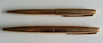 Vintage Parker Rolled Gold Fountain & Ball Point Pen - Made in England