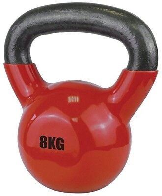 (8kg, Red) - UFE Vinyl Coated Gym Exercise Training Weight Body Dipping