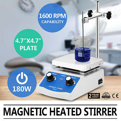 Sh-2 Magnetic Stirrer Hot Plate Dual Controls Digital Display 180W Heating Plate