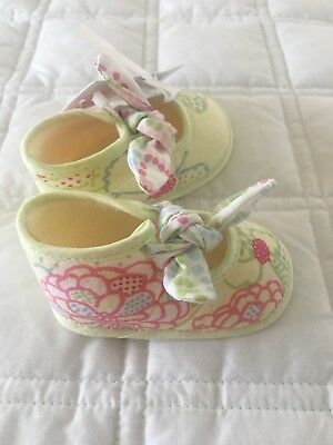Cacharel Designer Baby Girl Shoes Slippers Size 18 New