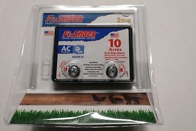 New Fi-Shock EAC10A-FS AC Powered Electric Fence Charger 10 Acres Low Impedance
