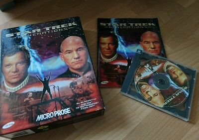 PC CD ROM Star Trek Generations Spiel Game Computer Anleitung Kiste Picard