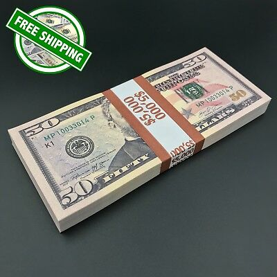 THE BEST PROP MONEY - $5,000 $50 Play Stage Fun Poker Copy Fake Prop Money