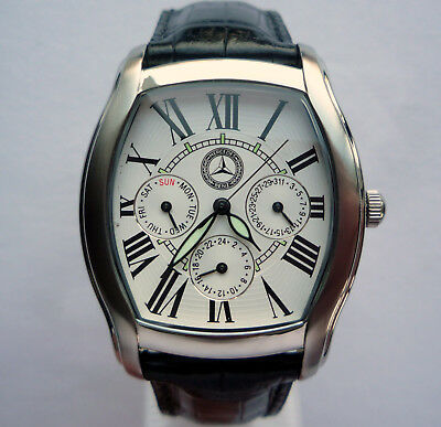 Mercedes Benz Classic Art Deco Style Design Car Accessory Made in Germany Watch