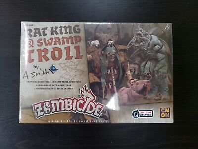 Kickstarter EXCLUSIVE Zombicide Green Horde RAT KING & SWAMP TROLL Box Set NEW