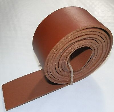 LEATHER BELT BLANKS STRAPS SADDLE TAN 3MM THICK VEG TAN 148cm - 58 INCH LONG