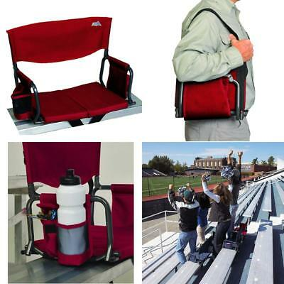 Bleacher Seat Cushion With Back Support Folding Chairs Beverage Holder Pockets & EDDIE BAUER BLEACHER Seat with Back Support - $15.00 | PicClick
