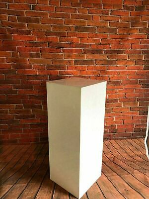 Acrylic Display plinths/podiums 35cm sq 5 Sided open 1 end Black, white or clear