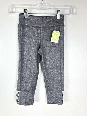 Crazy 8 C8 Active Girls NWT Workout capri Gray size Small 5-6