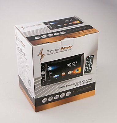 Precision Power 2 DIN CD/DVD Player Front Rear Camera Input SD Bluetooth AUX USB