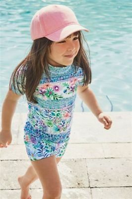 Baby Girls NEXT UV Floral Sun Suit Swimming Suit 3-6 Mths BNWT UPF50+ Protection