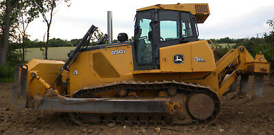 2008 John Deere 850J Track Dozer Ripper Diesel Cab AC Excellent Condition