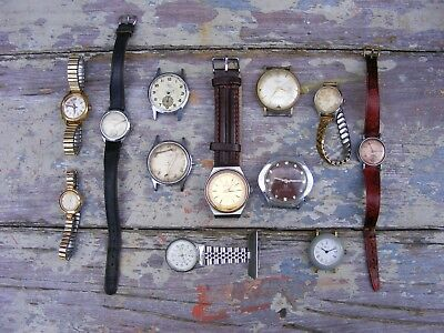 mixed joblot vintage mechanical watches-non runners-spares/repairs ORIS etc