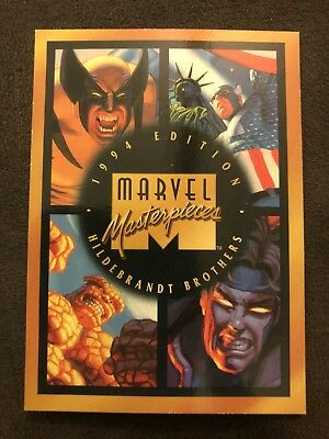 Marvel Masterpieces Fleer 1994 Card #140 Checklist