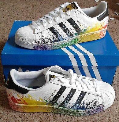 adidas superstar rainbow splatter