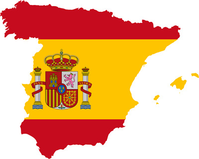 Flag Map of Spain Shaped Country Die Car Laptop Cut Sticker Decal