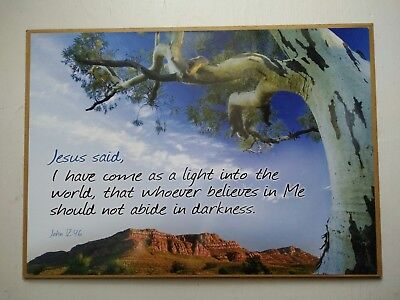 religious wall picture Jesus said,  wall poster Bible worlds