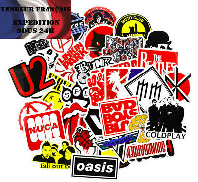 * Lot de 25 autocollants stickers ROCK AND ROLL *