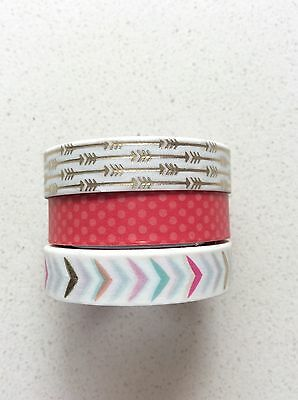 Recollections Metallic Foil Washi Tape Gold Arrows, Scrapbooking Planner