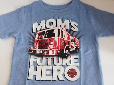 Boys Size 12 18 24 Months T Shirt Fire Truck Moms Hero Toddler Childrens Place