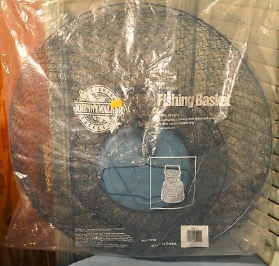 """NIP Collapsible Fishing Basket 19"""" by 30"""" Johnny Walker Fishing Tackle New"""