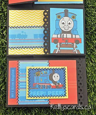 KOScraps4u Sewn Baby Boy Interactive Thomas Tank Engine Train Album Premade