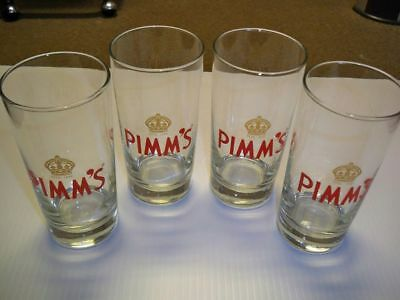 """4 X Pimm's Hard Cider """"Short Pint"""" Glasses. 10 ounce. Very Cool. Pimm's. English"""