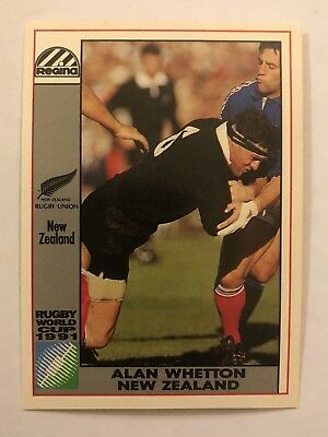 Regina 1991 World Cup Rugby Union Card All Blacks #27 Alan Whetton