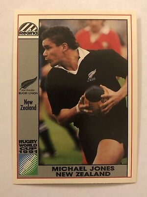 Regina 1991 World Cup Rugby Union Card All Blacks #33 Michael Jones