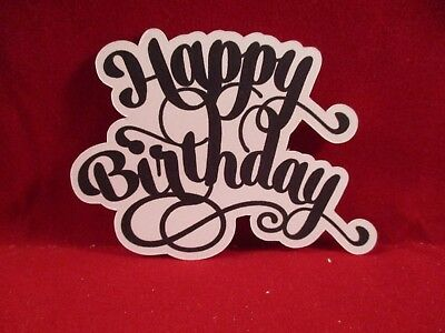 8 Happy Birthday Sentiment Die Cuts..........style 1..........cardmaking