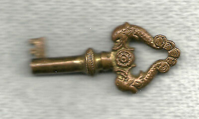 Vintage Antique Edison Phonograph Skeleton Key Old Brass Double Fish Kissing