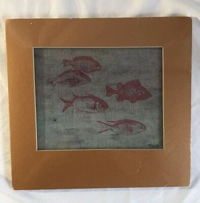 Jim Tillett Silk Screen Canvas Painting New In Packaging Beautiful Fish Picture