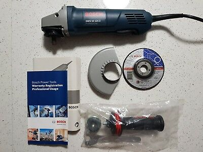 "BOSCH PROFESSIONAL 125mm 5"" ANGLE GRINDER 1000W GWS10-125Z - NEW + WARRANTY"