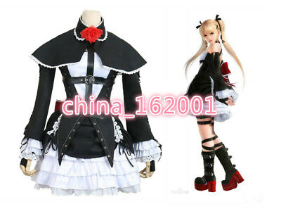 DOA5 Dead or Alive 5 Marie Rose Black Uniform cosplay Dress cosplay costume