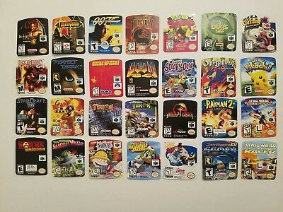 Snes-n64 free shipping to CANADA cartridge replacement label sticker your choice