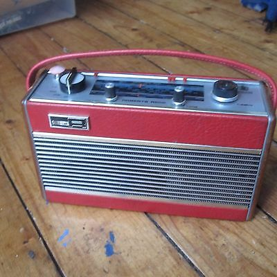 Roberts Radio Red R505 Vintage Transistor FM LW MW Retro Tested Working