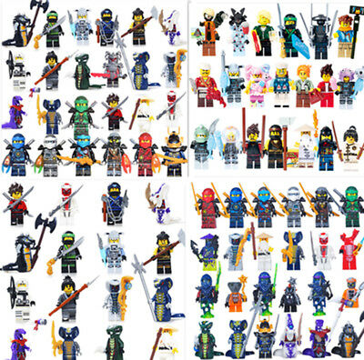 Ninjago Mini Figures Wu Master/Jay/Kai/Sensei/Blocks fit all building blocks