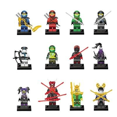 Ninjago Ninja 12pcs Mini figures Zane/Jay/Kai/Nya/Wu Master Toy fit all building