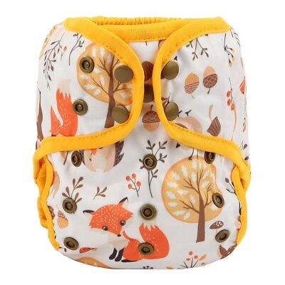 Baby Diaper Cover Nappy Cover Double Gussets Reusable One Size Baby Deer
