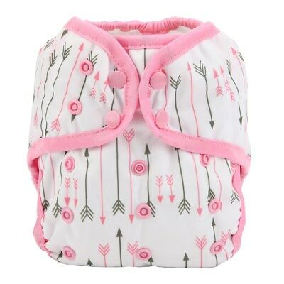 Baby Diaper Cover Nappy Cover Double Gussets Reusable One Size Pink Arrow