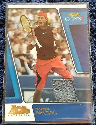 RARE Rafael NADAL GOLD Ace Authentic US Open Match-Used Materials card US6 18/25