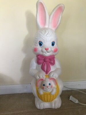 "Vintage Empire Blowmold Blow Mold Easter Bunny Rabbit 22"" Baby"