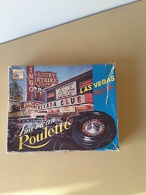 BOXED ATC CASINO AMERICAN  Roulette Wheel Game Table Set Black Layout