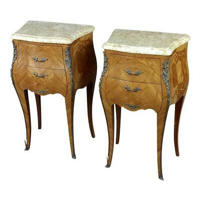French 19th century marquetry petit Commodes- a Pair