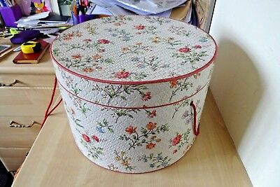 Vintage 1970s Retro Hat Box Kitsch Luggage Display Prop Shop Fitting Wedding